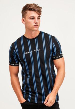 CLERTON - T-shirt imprimé - black/cobalt