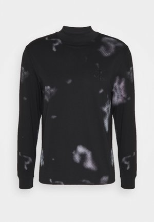 CLOUD PRINT UNISEX - Long sleeved top - black
