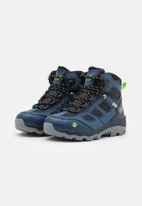 Jack Wolfskin - VOJO TEXAPORE MID UNISEX - Hiking shoes - dark blue/lime - 1