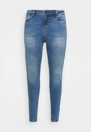 NMAGNES SUPER - Skinny džíny - light blue denim