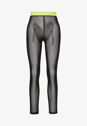 FIORUCCI INLINE SHEER TRANSPARENT TIGHTS - Leggings - Trousers - black