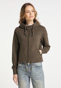 DreiMaster - Zip-up sweatshirt - militäroliv - 0
