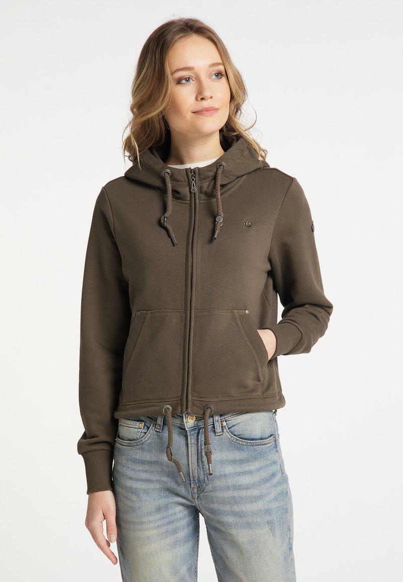 DreiMaster - Zip-up sweatshirt - militäroliv