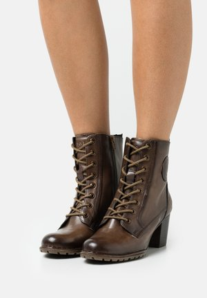 CATHY EVO - Lace-up ankle boots - taupe