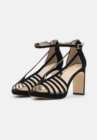 Anna Field - LEATHER - Korolliset sandaalit - black - 2