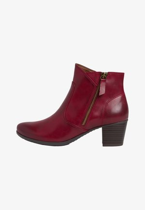 STIEFELETTE - Ankle boots - red