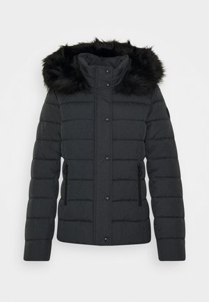 Winter jacket - dark grey melange