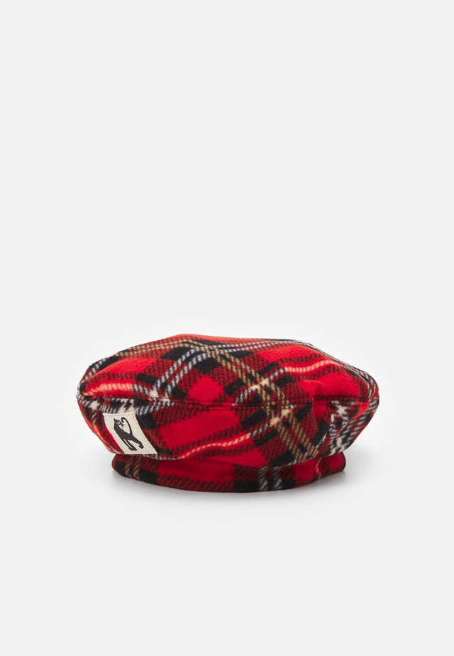 CHECK BERET - Beanie - red