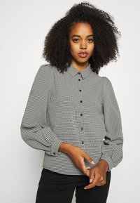 Vero Moda - VMBEATE - Button-down blouse - black/snow white - 0
