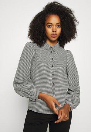 VMBEATE - Button-down blouse - black/snow white