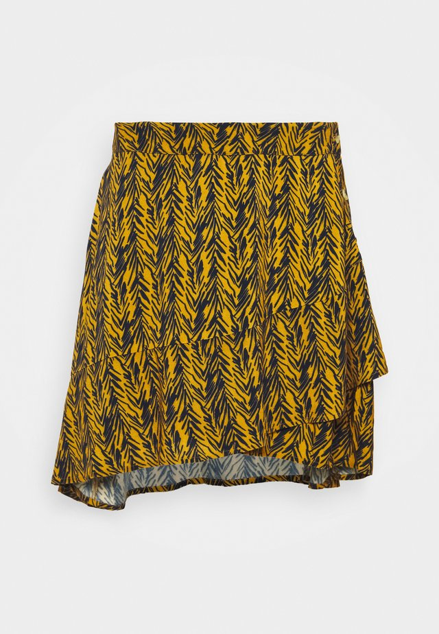 NMBEAGLE SHORT SKIRT - A-Linien-Rock - inca gold/black