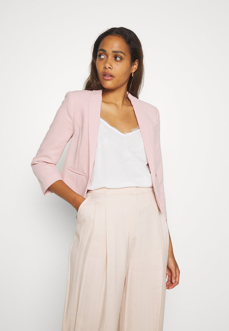 New Look - HARPER CROP BLAZER - Sportovní sako - pale pink