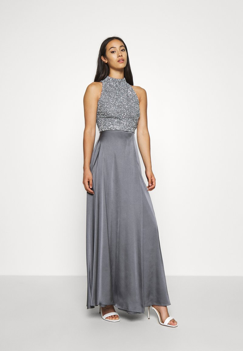 Lace & Beads - LIZA MAXI - Occasion wear - charcoal grey