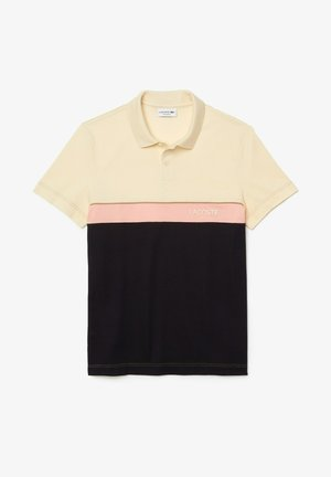 Polo shirt - beige / bleu marine / rose