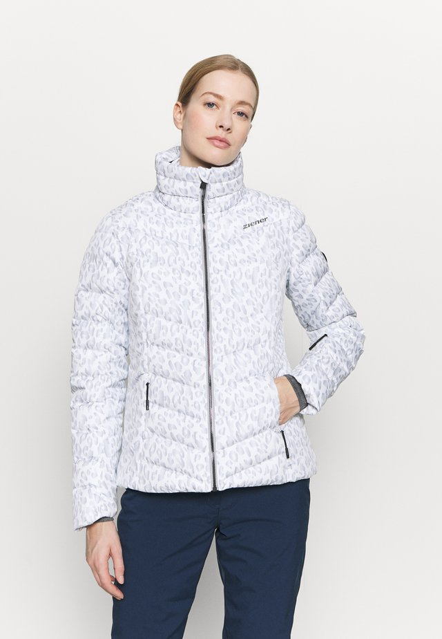 TALMA LADY JACKET - Laskettelutakki - light grey/white