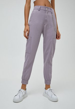 Cargo trousers - purple