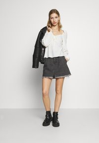 Free People - SIDECAR MINI - Denim skirt - black - 1