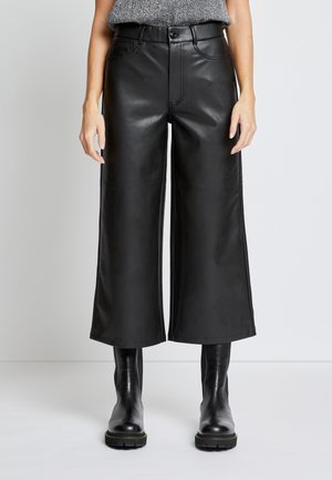 ONLMADISON WIDE CROP - Trousers - black