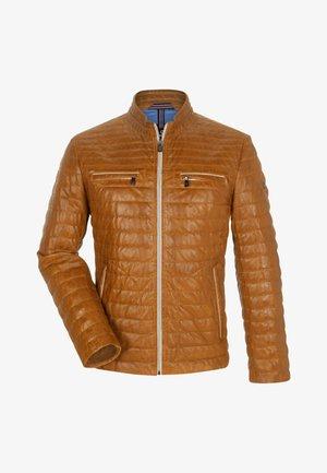 SUN RYTHM - Leather jacket - camel