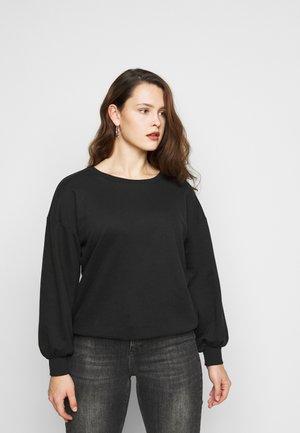 CARLULU HEM BALLOON - Sweater - black