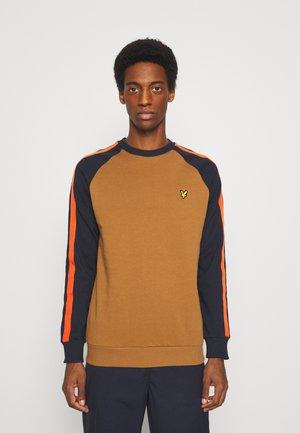 COLOUR BLOCK CREW - Sweatshirt - tawny brown