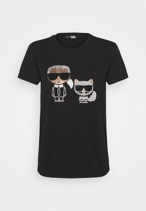 IKONIK RHINESTONE  - T-shirt imprimé - black