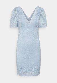 ONLY - ONLNEW ALBA PUFF V-NECK DRESS - Cocktailkjole - cashmere blue - 0