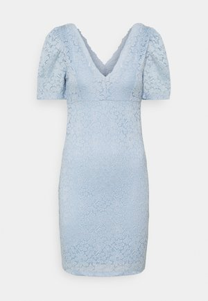 ONLNEW ALBA PUFF V-NECK DRESS - Vestido de cóctel - cashmere blue