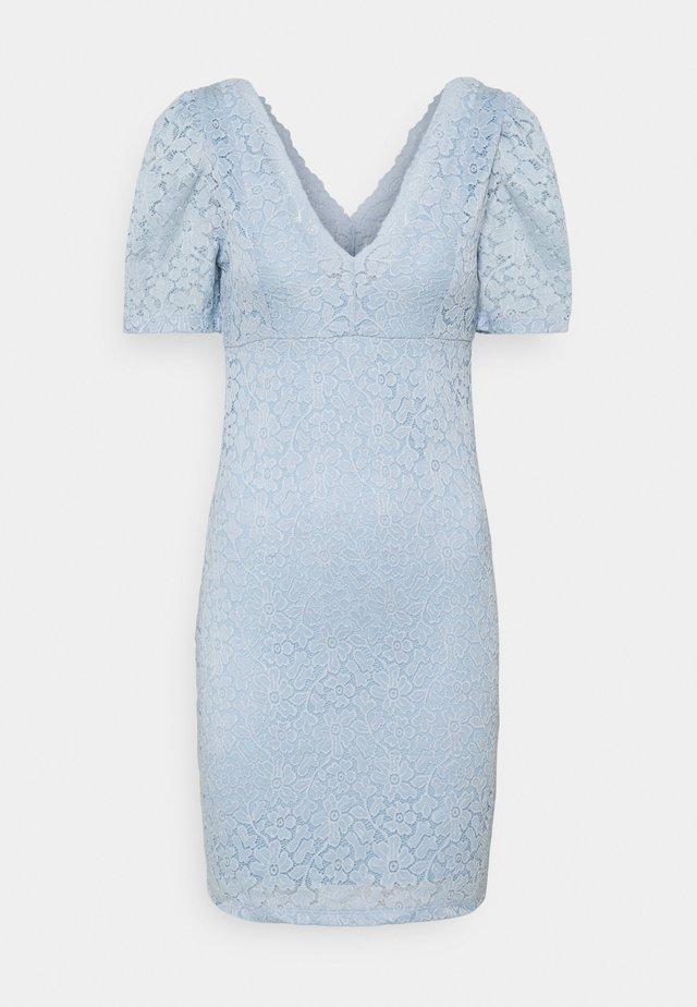 ONLNEW ALBA PUFF V-NECK DRESS - Sukienka koktajlowa - cashmere blue