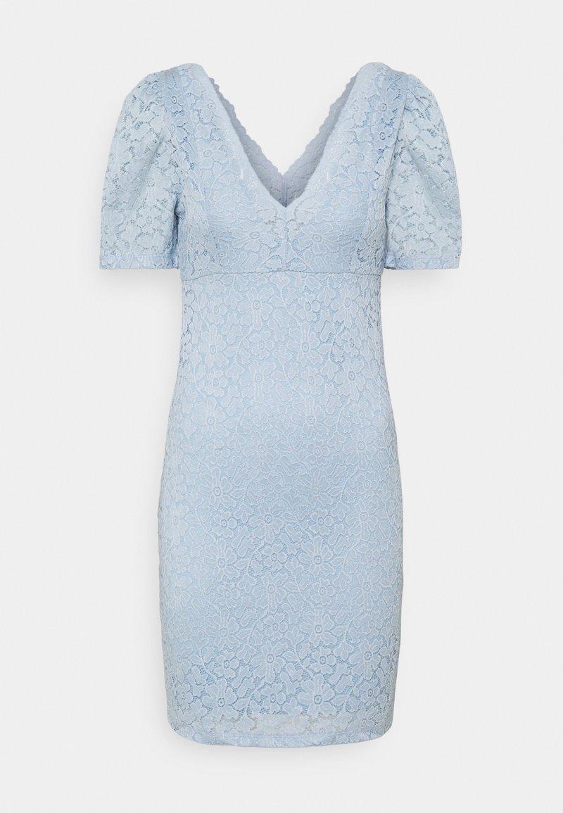 ONLY - ONLNEW ALBA PUFF V-NECK DRESS - Cocktailkjole - cashmere blue