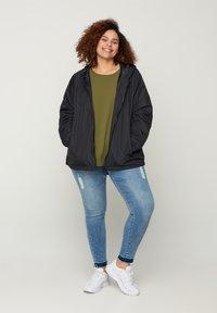 Zizzi - MTWENTY JACKET - Summer jacket - black - 1