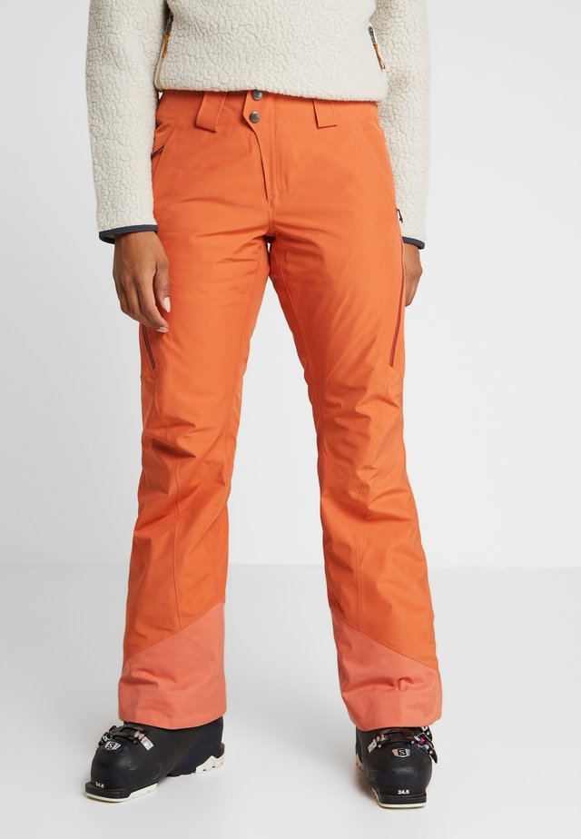 INSULATED POWDER BOWL PANTS - Talvihousut - sunset orange