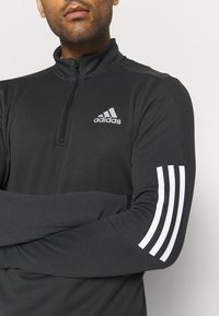 adidas Performance - 1/4 ZIP TRAINING WORKOUT AEROREADY PRIMEGREEN - Long sleeved top - black - 5