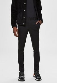 Selected Homme - FLEX FIT HOSE SLIM FIT - Chinos - black - 0