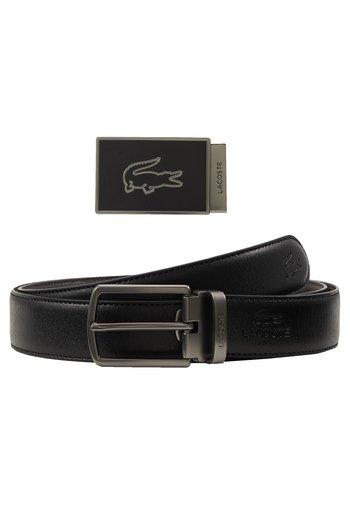 REVERSIBLE CURVED BOX SET - Belt - black/dark brown