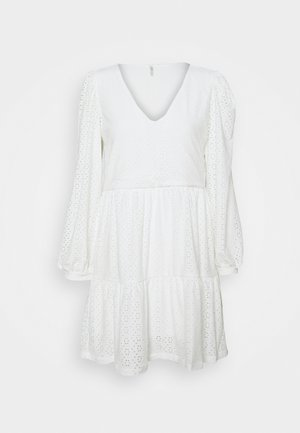 ONLFRIDA V NECK DRESS PETIT - Day dress - cloud dancer
