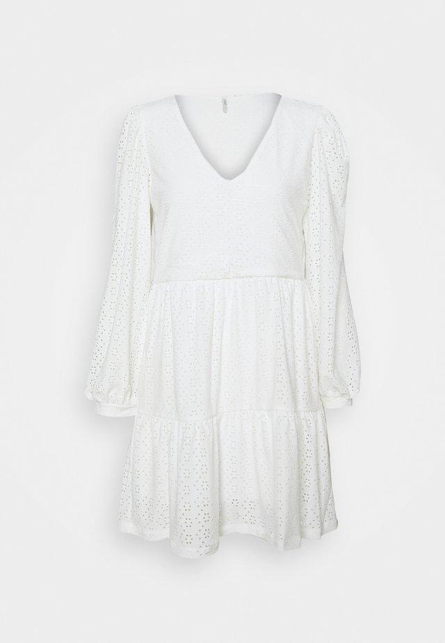ONLFRIDA V NECK DRESS PETIT - Kjole - cloud dancer