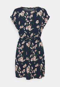 Vero Moda - VMSIMPLY EASY TIE SHORT DRESS - Day dress - navy - 0