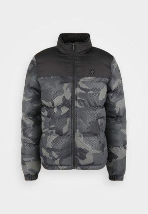 PRINTED CROP BUBBLE - Zimní bunda - black