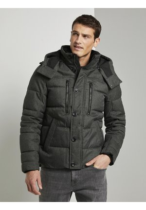 Winter jacket - mid grey structure