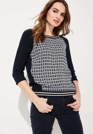 MIT BLUSENFRONT - Long sleeved top - white