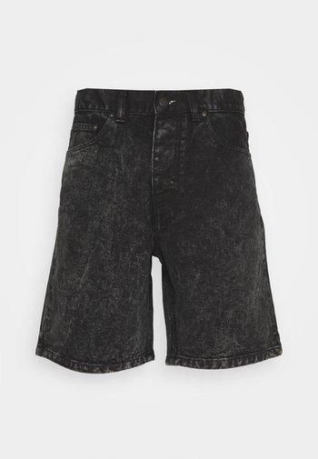 NEWEL PARKLAND - Farkkushortsit - black worn