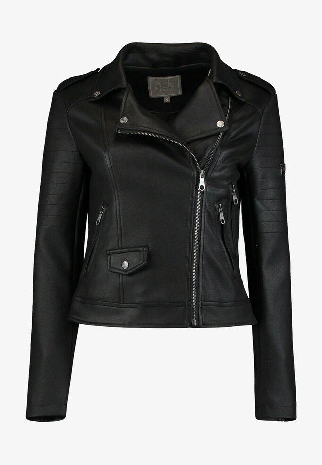 Faux leather jacket - schwarz