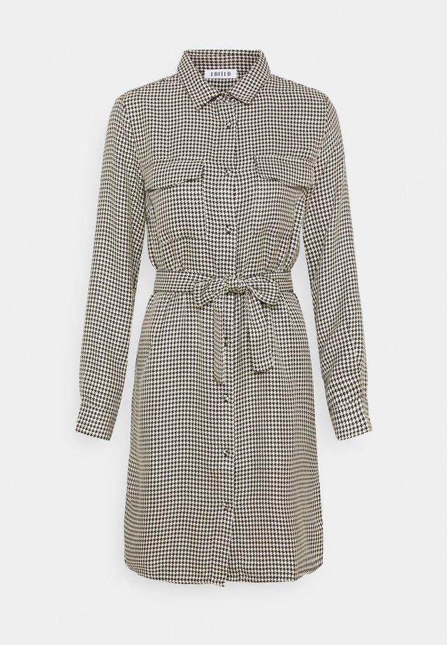 FARHA DRESS HOUNDSTOOTH - Shirt dress - mischfarben