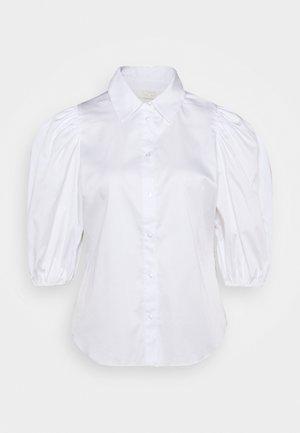 KIRA SHORT SLEEVE - Button-down blouse - white