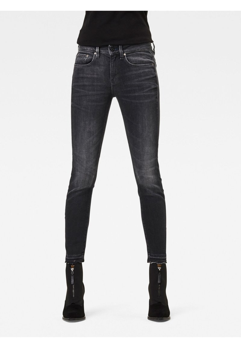G-Star - MID SKINNY ANKLE - Jeans Skinny Fit - worn in corby black