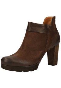 Paul Green - STIEFELETTE - High heeled ankle boots - dunkelbraun - 3