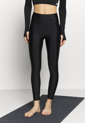 CROPPED GLOSS LEGGING - Leggings - black