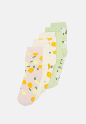 POLLY 5 PACK - Socks - green dusty light