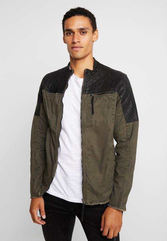 BEPURE - Summer jacket - khaki /black